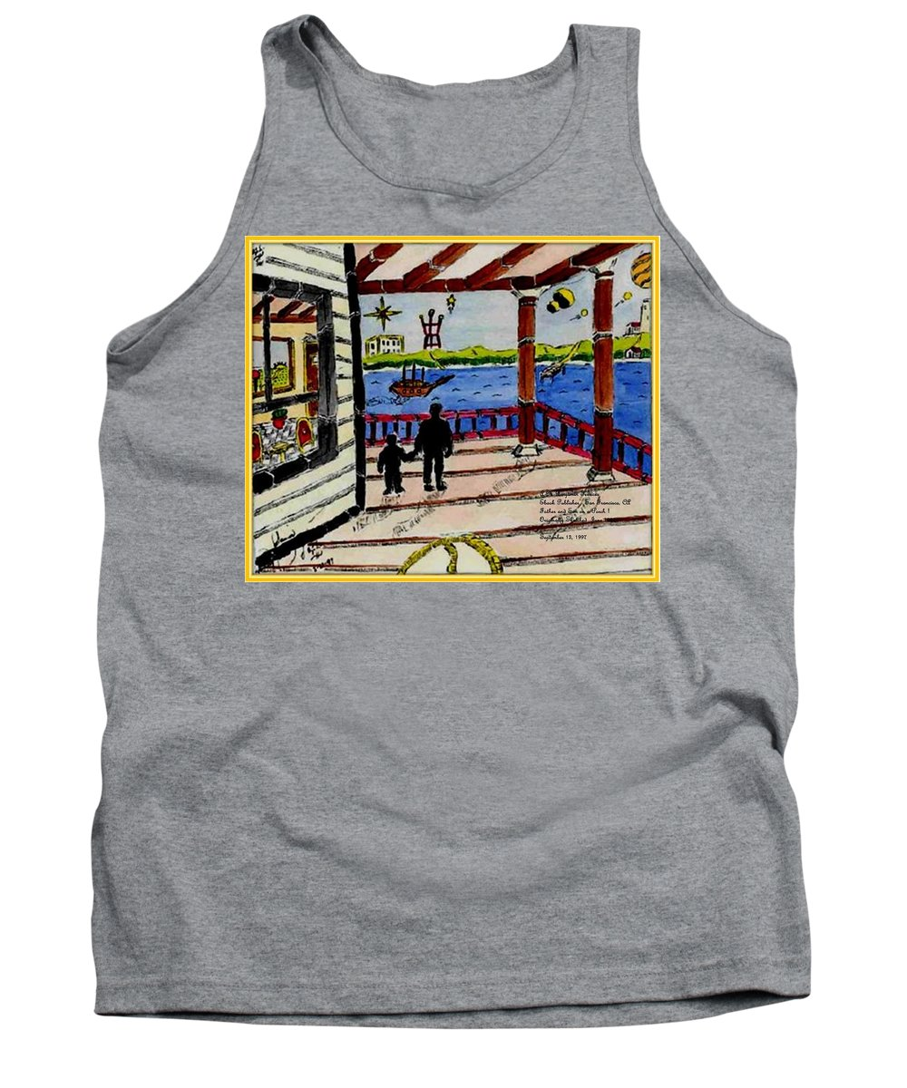 Boy Tank Top featuring the painting Father And Son On The Porch by Anthony Benjamin