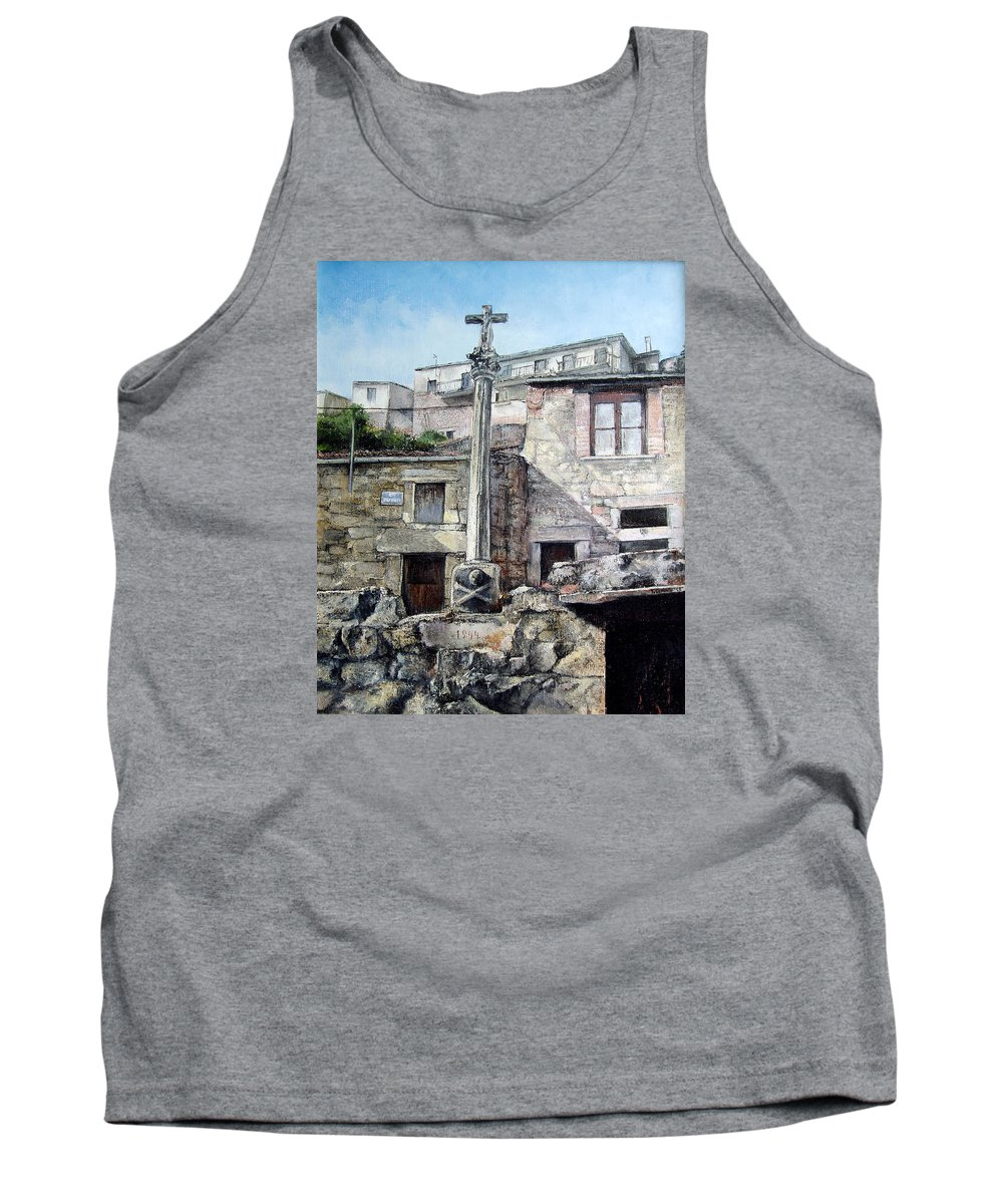 Fermoselle Tank Top featuring the painting Fermoselle.-crucero by Tomas Castano