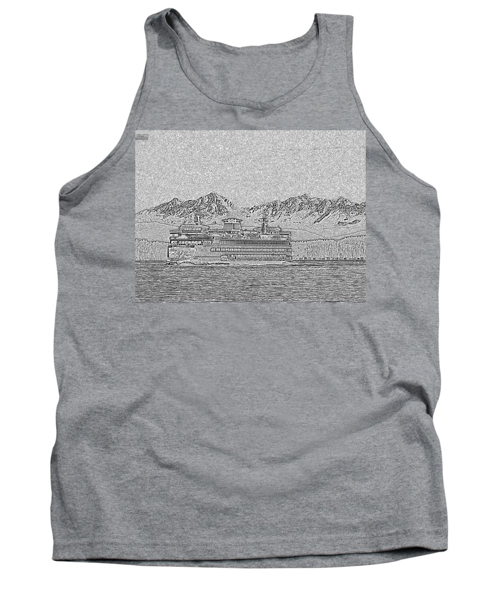 Seattle Tank Top featuring the photograph Ferry On Elliott Bay 5 by Tim Allen