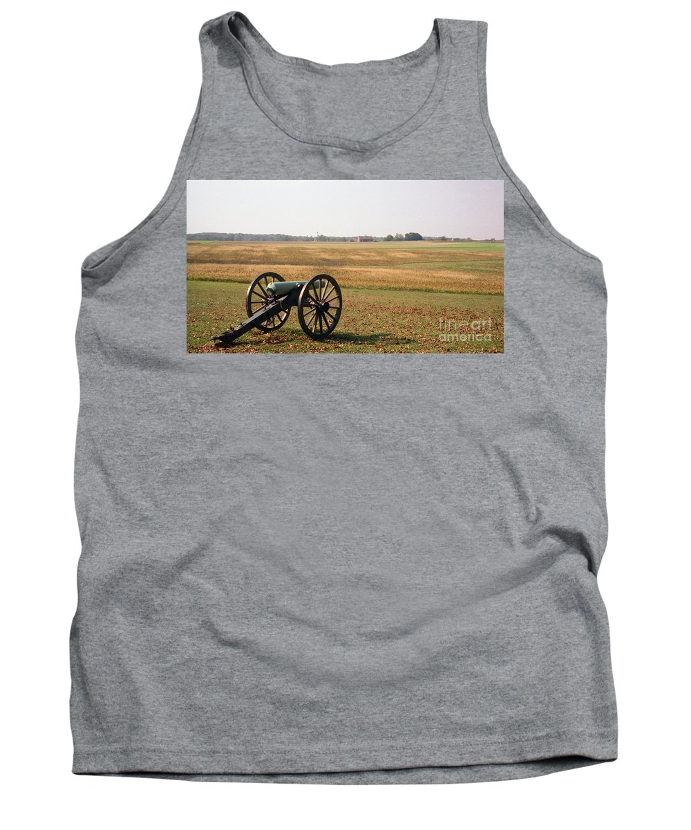 Civil War Tank Top featuring the photograph Fields Of Death by Richard Rizzo
