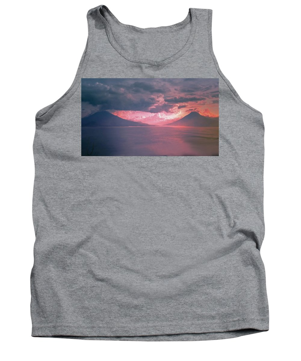 Volcano Tank Top featuring the photograph Fiery Volcano by Chris Patel
