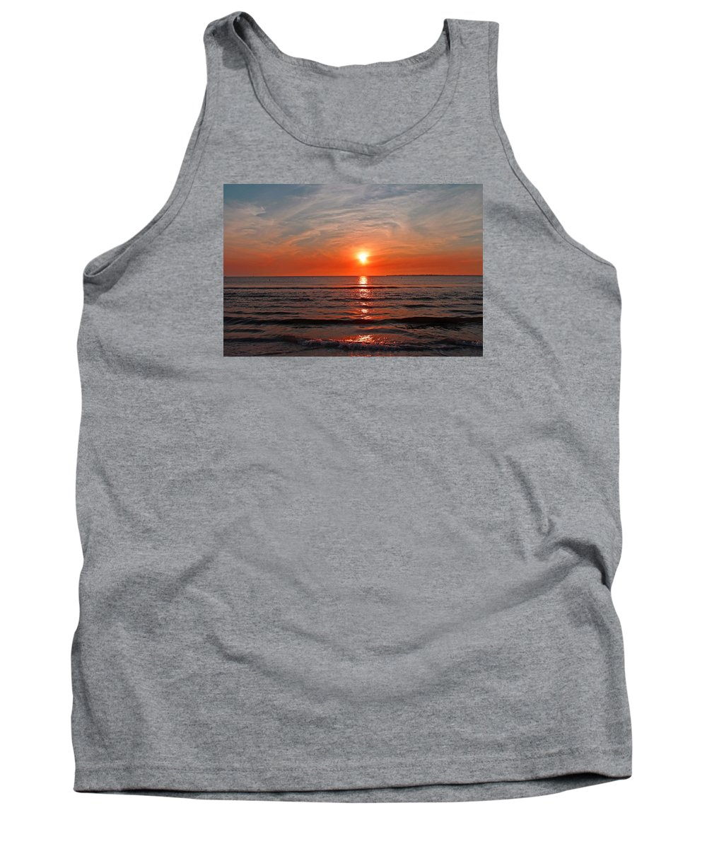 Sunset Tank Top featuring the photograph Fire At Twilight by Michiale Schneider