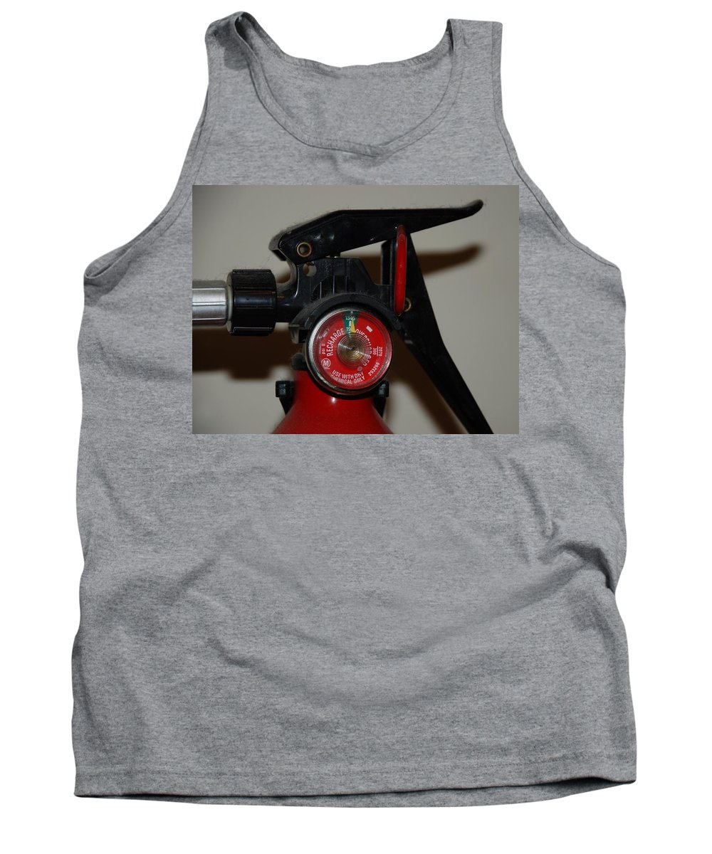 Fire Extinguisher Tank Top featuring the photograph Fire Extinguisher by Rob Hans
