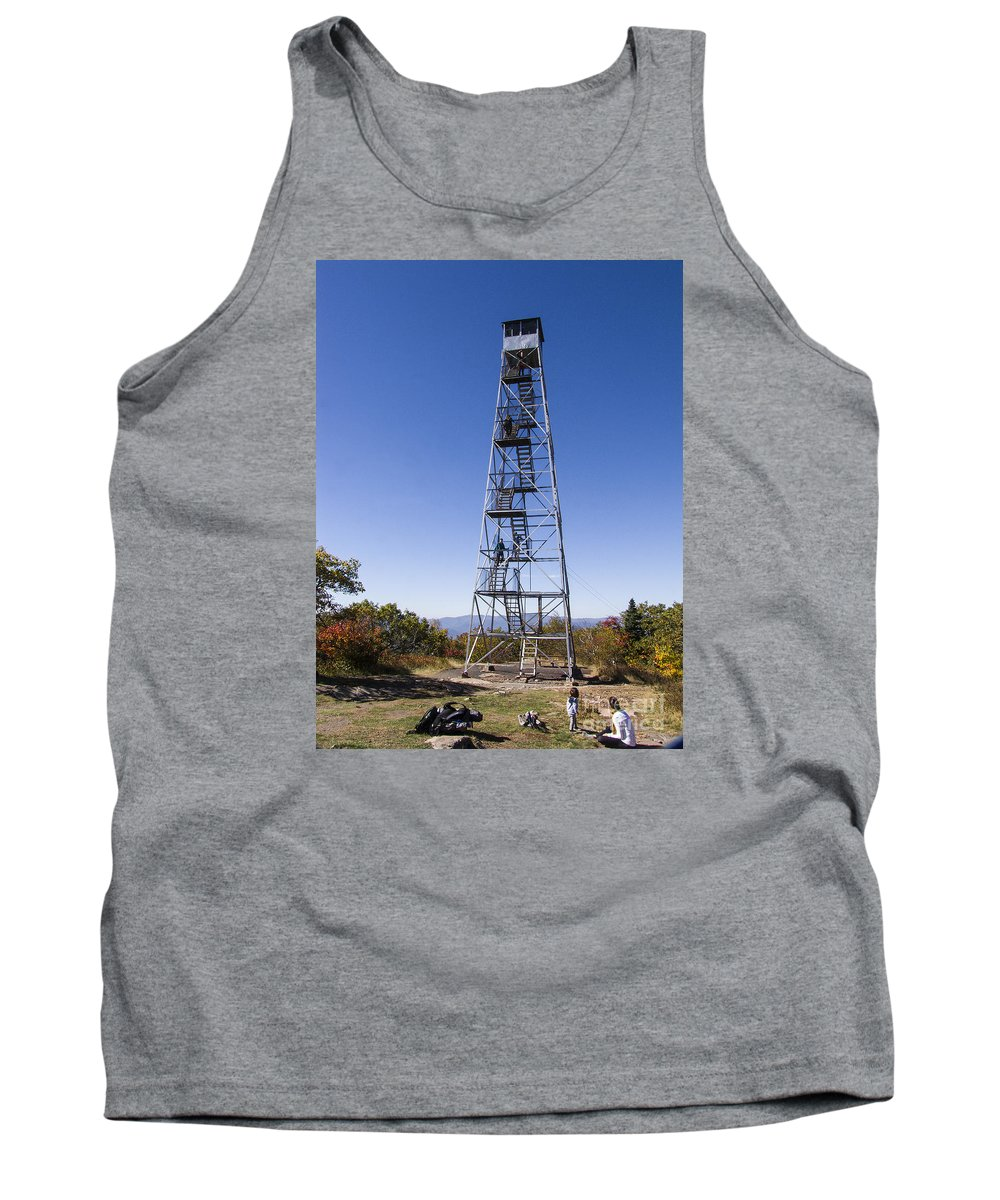 Phil Welsher Tank Top featuring the photograph Fire Watch Tower Overlook Mountain by Phil Welsher