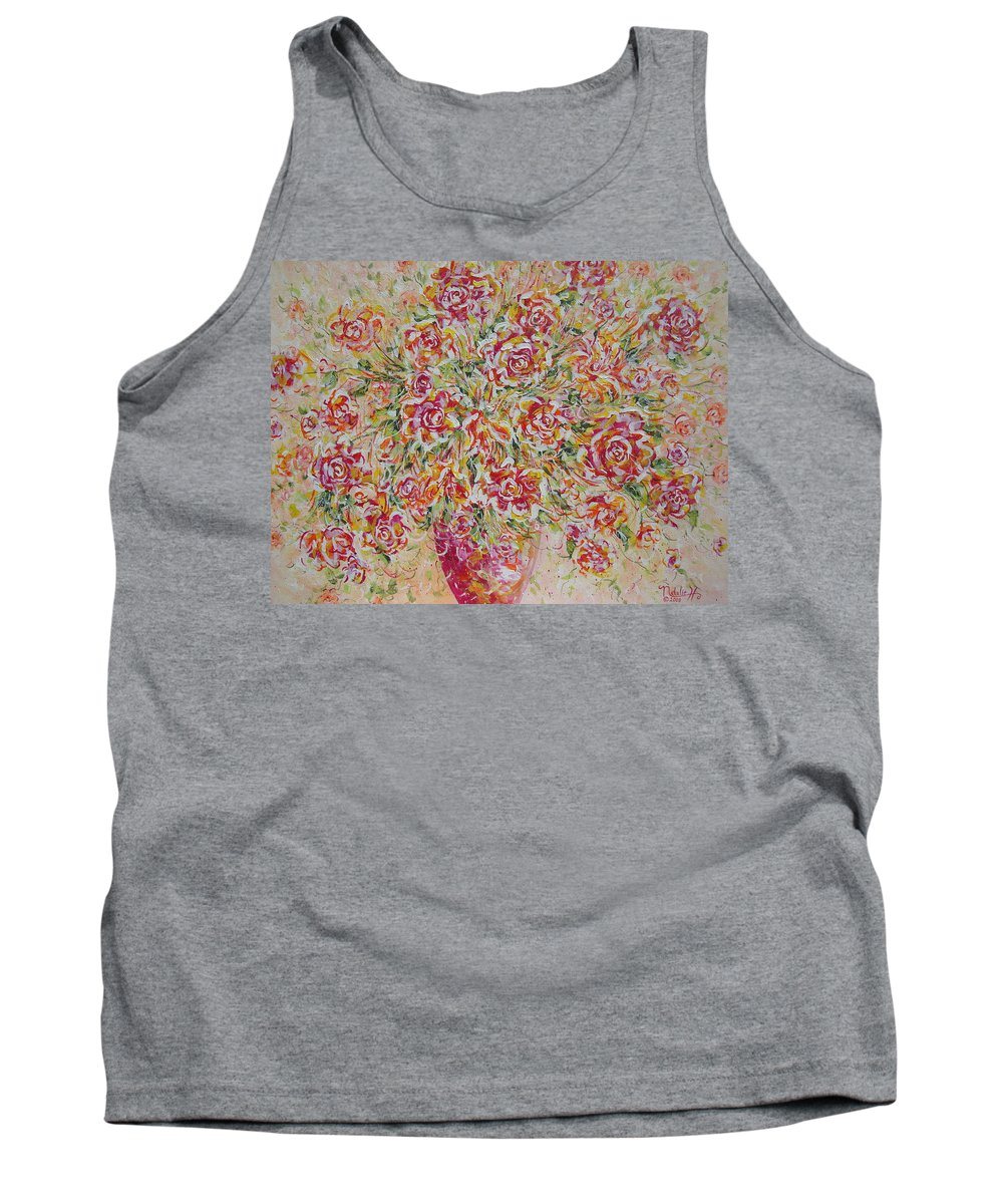 Flowers. Floral Tank Top featuring the painting First Love Flowers by Natalie Holland