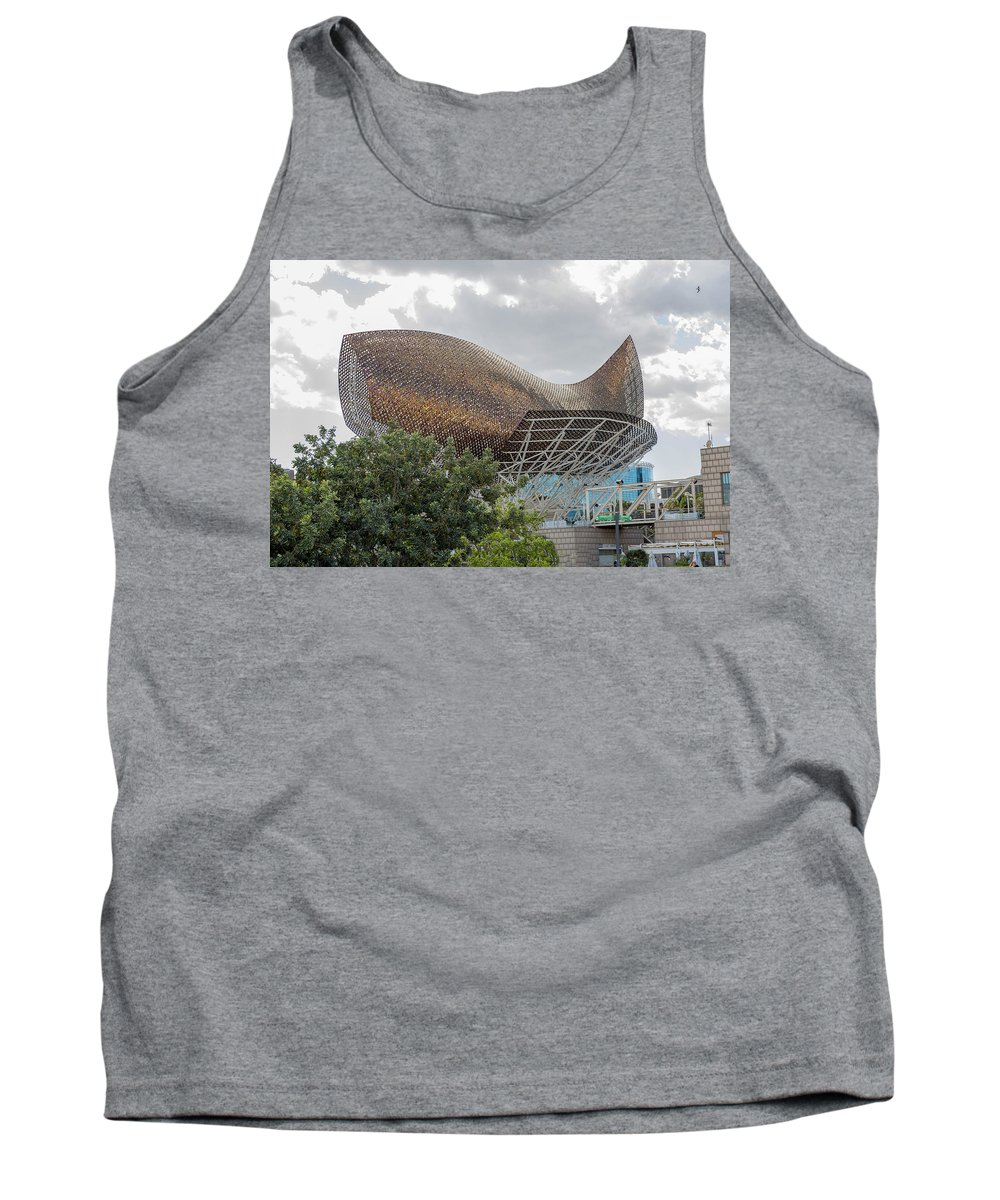 Peix Tank Top featuring the photograph Fish By Frank Owen Gehry - Olympic Village - Barcelona Spain by Jon Berghoff