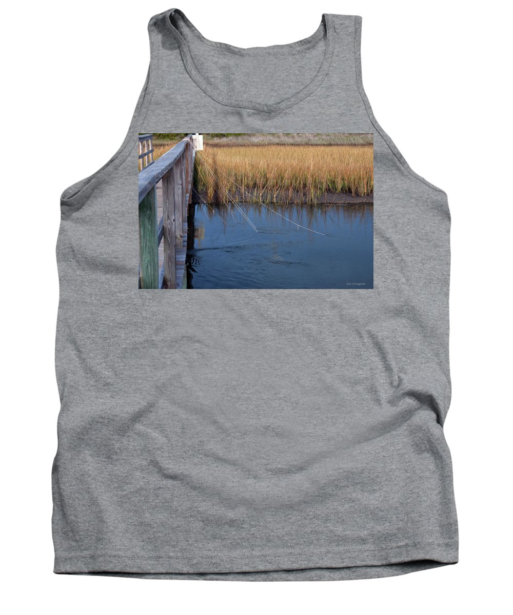 Charleston Tank Top featuring the photograph Fishin' Lines by Kay Lovingood