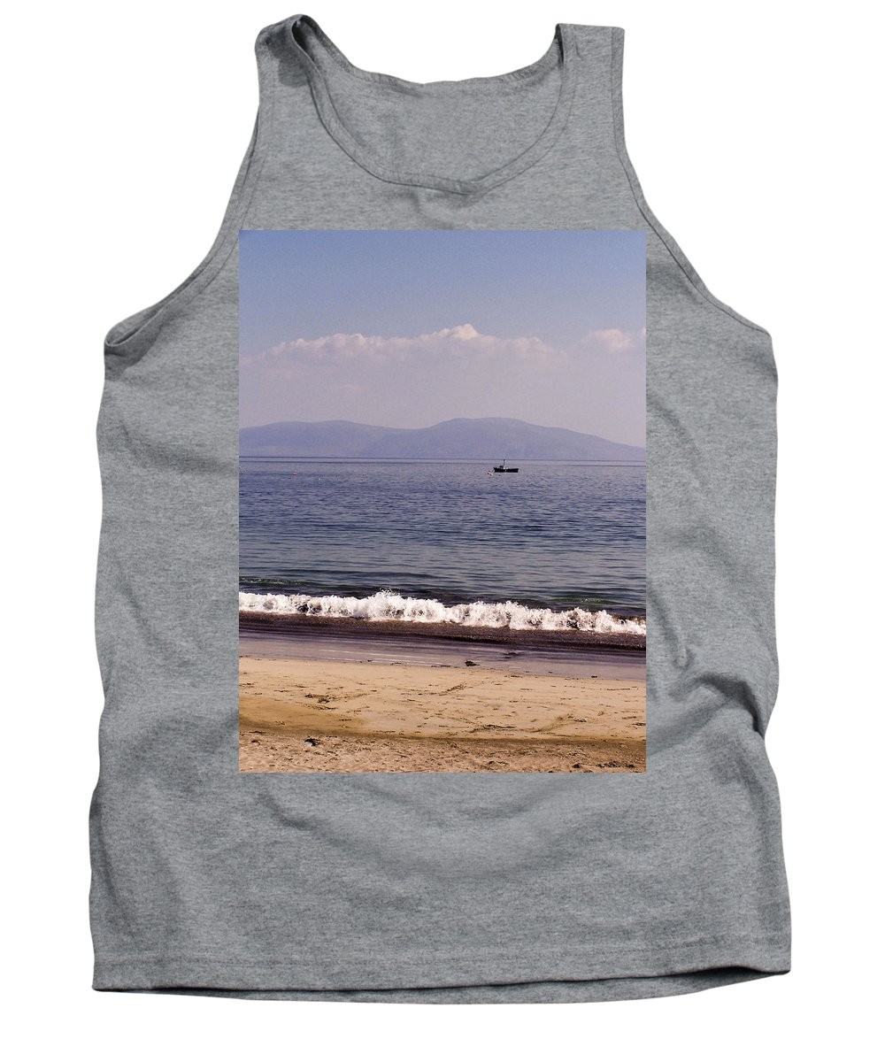 Irish Tank Top featuring the photograph Fishing Boat On Ventry Harbor Ireland by Teresa Mucha