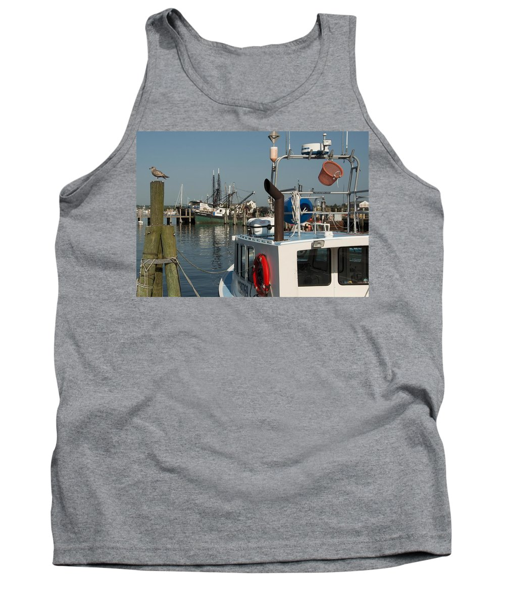 Long Tank Top featuring the photograph Fishing Fleet by Steven Natanson