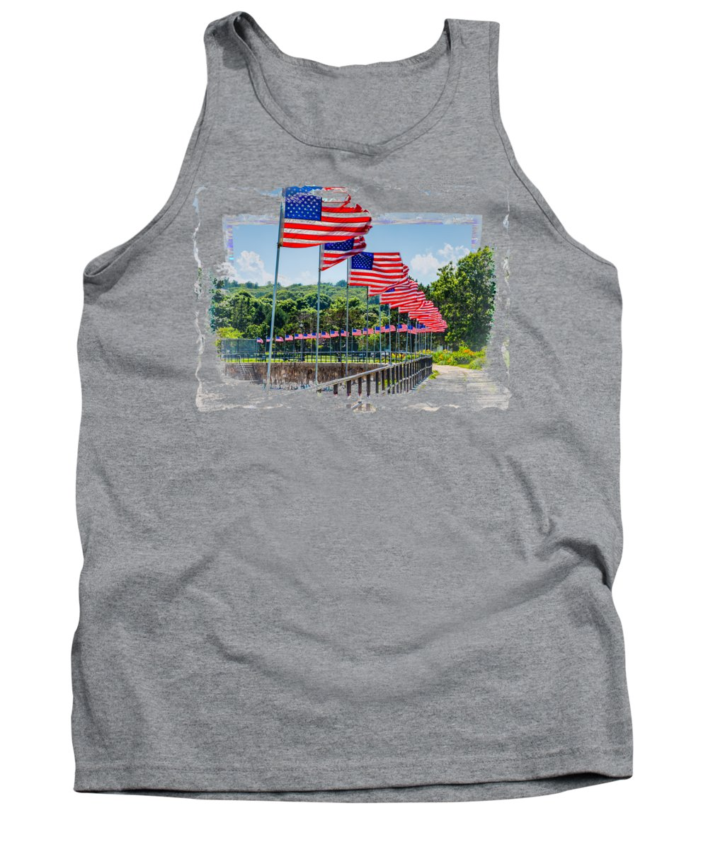Gloucester Tank Top featuring the photograph Flag Walk by John M Bailey