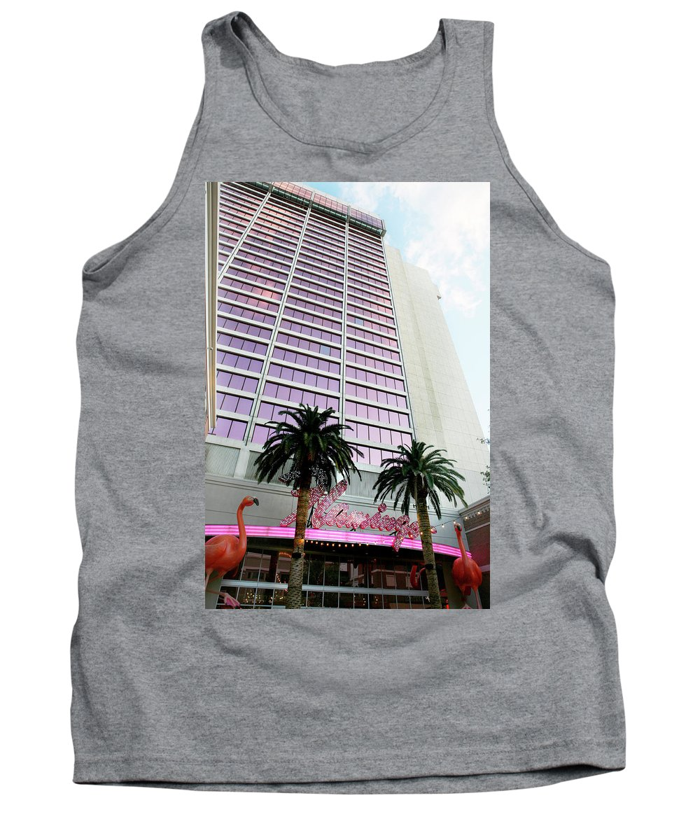 Flamingo Tank Top featuring the photograph Flamingo Hotel Neon Sign Las Vegas by Marilyn Hunt