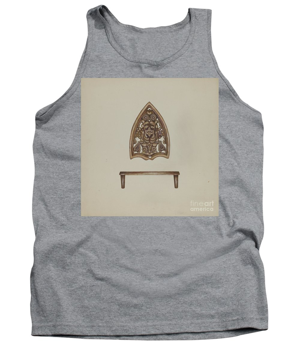 Tank Top featuring the drawing Flat Iron Holder by Vincent Mcpharlin