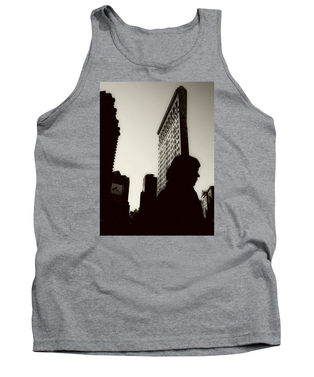 New York Tank Top featuring the photograph Flat Iron Shadows by Jeff Watts