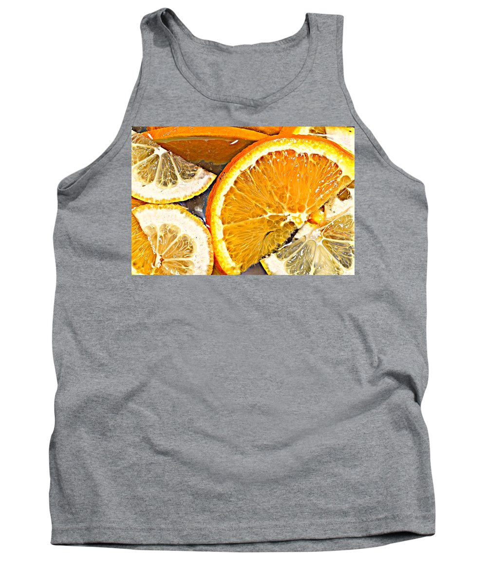 Citrus Tank Top featuring the photograph Floating Citrus by Brenda Michniewicz