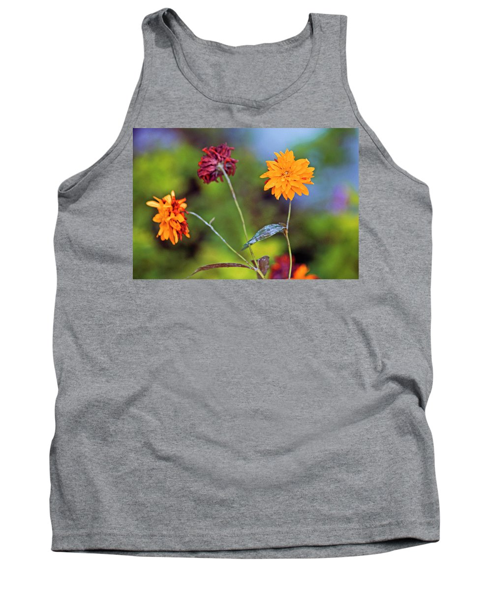 Macro Tank Top featuring the photograph Floral by Absorb Productions