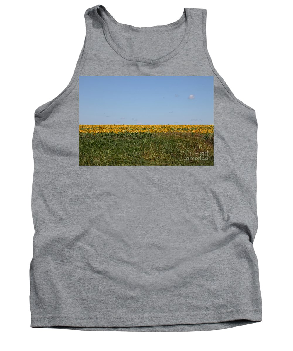 Sunflowers Tank Top featuring the photograph Floral Blur by Amanda Barcon