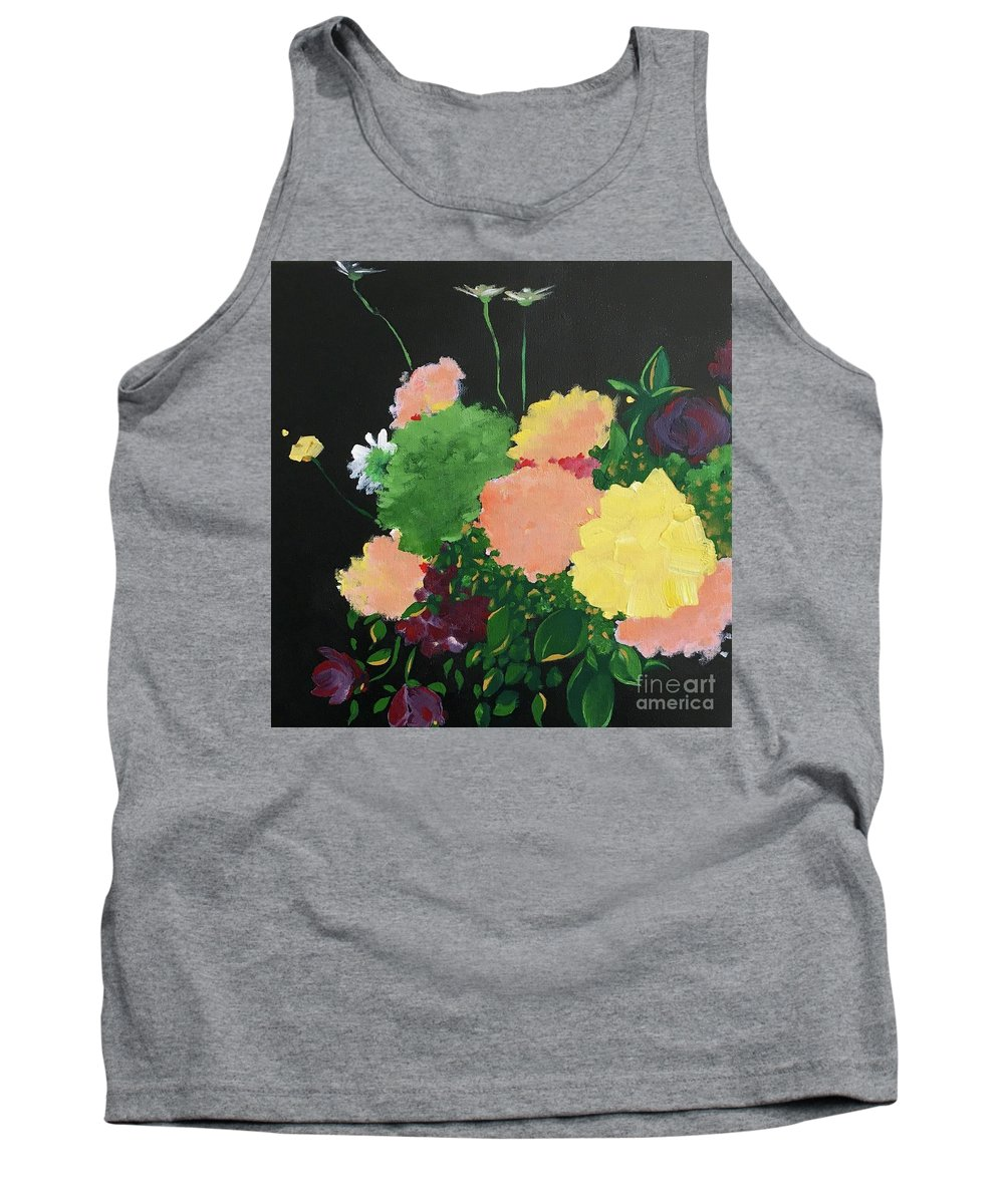 Still Life Tank Top featuring the painting Floral Still Life by Lizzy Bell Cassada