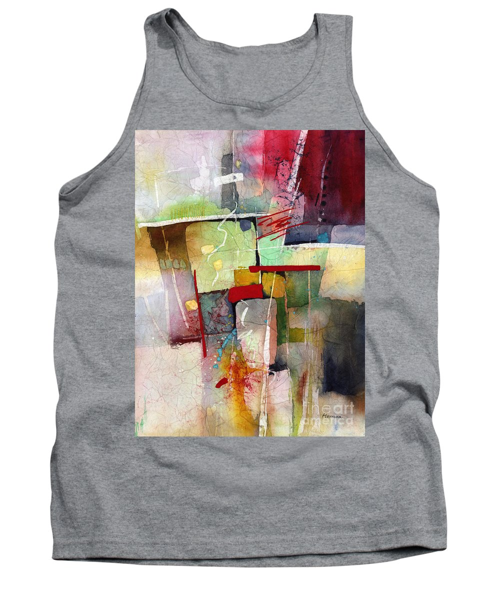 Abstract Tank Top featuring the painting Florid Dream by Hailey E Herrera