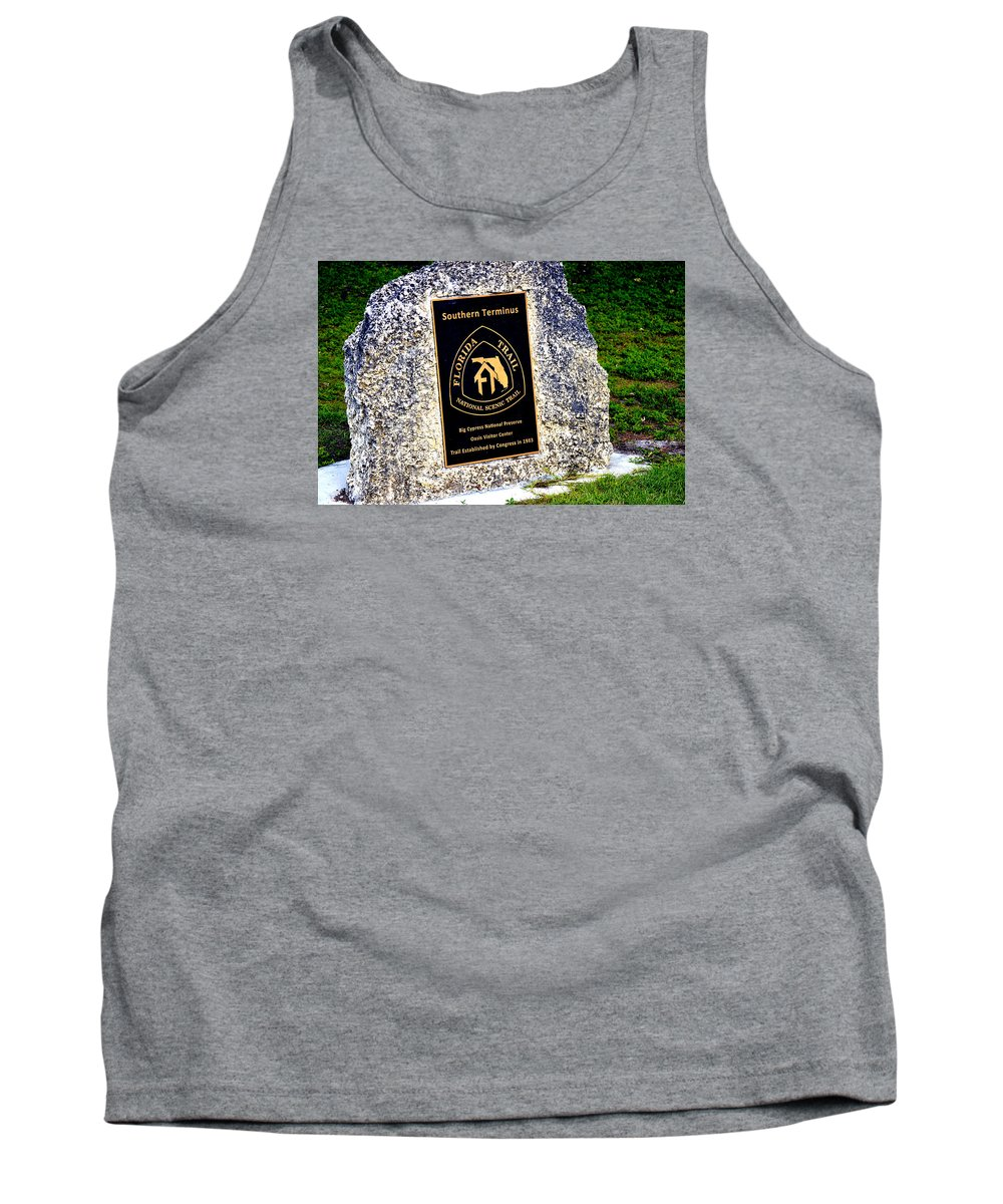 Florida Tank Top featuring the photograph Florida Trail Southern Terminus by Amy Nichter
