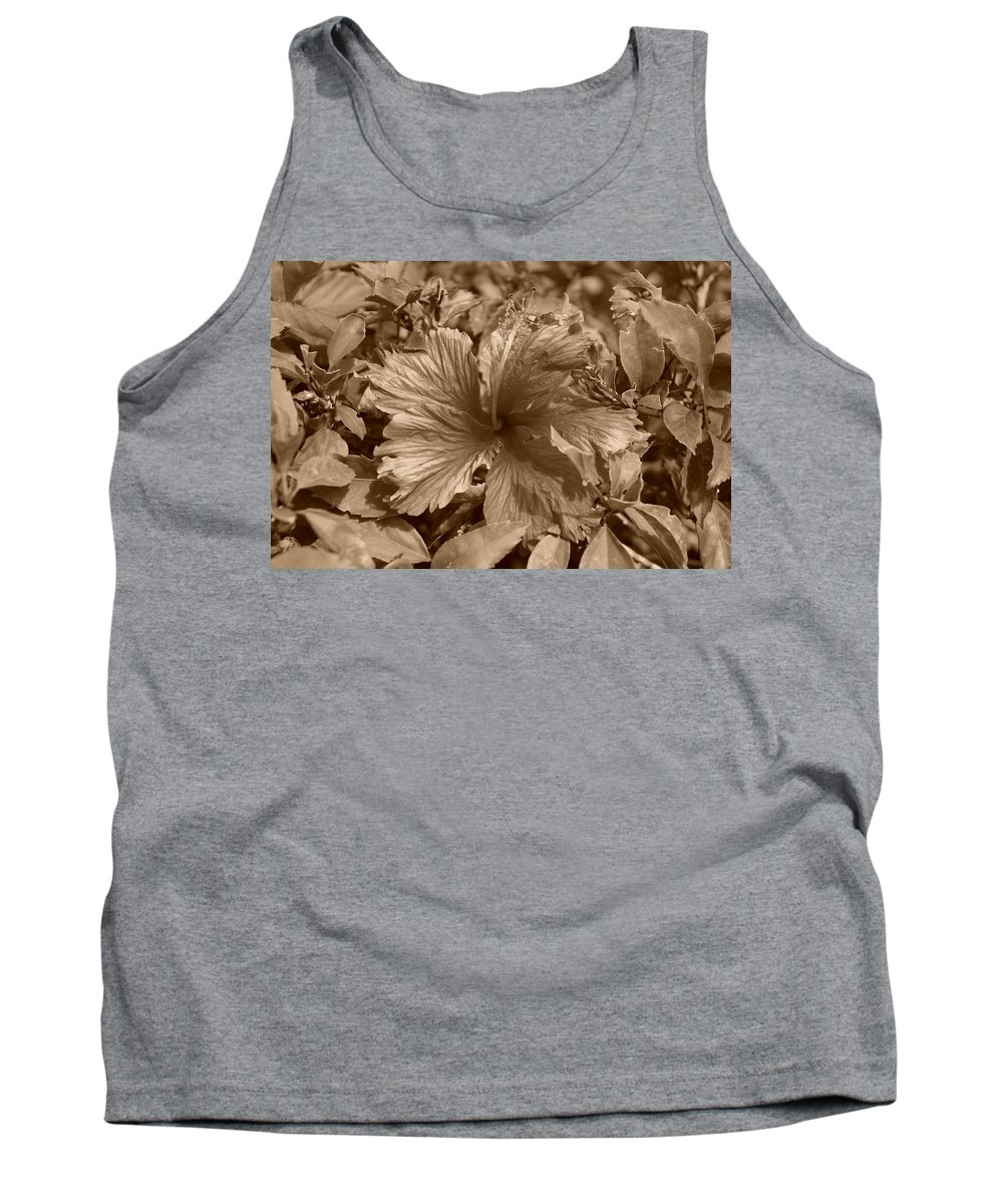 Sepia Tank Top featuring the photograph Flower In Sepia by Rob Hans