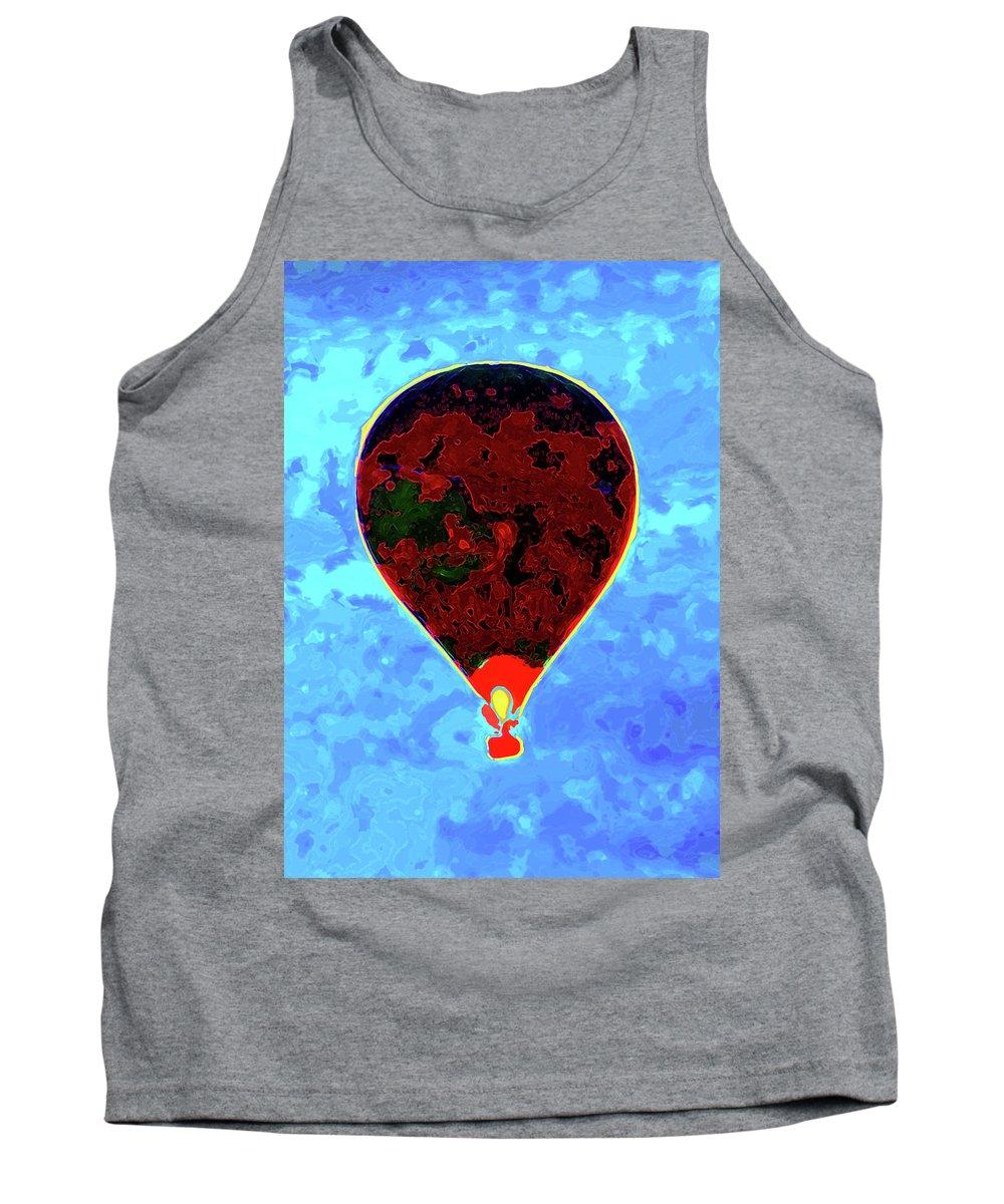 Hot Air Balloon Tank Top featuring the photograph Flying High - Hot Air Balloon by P Donovan