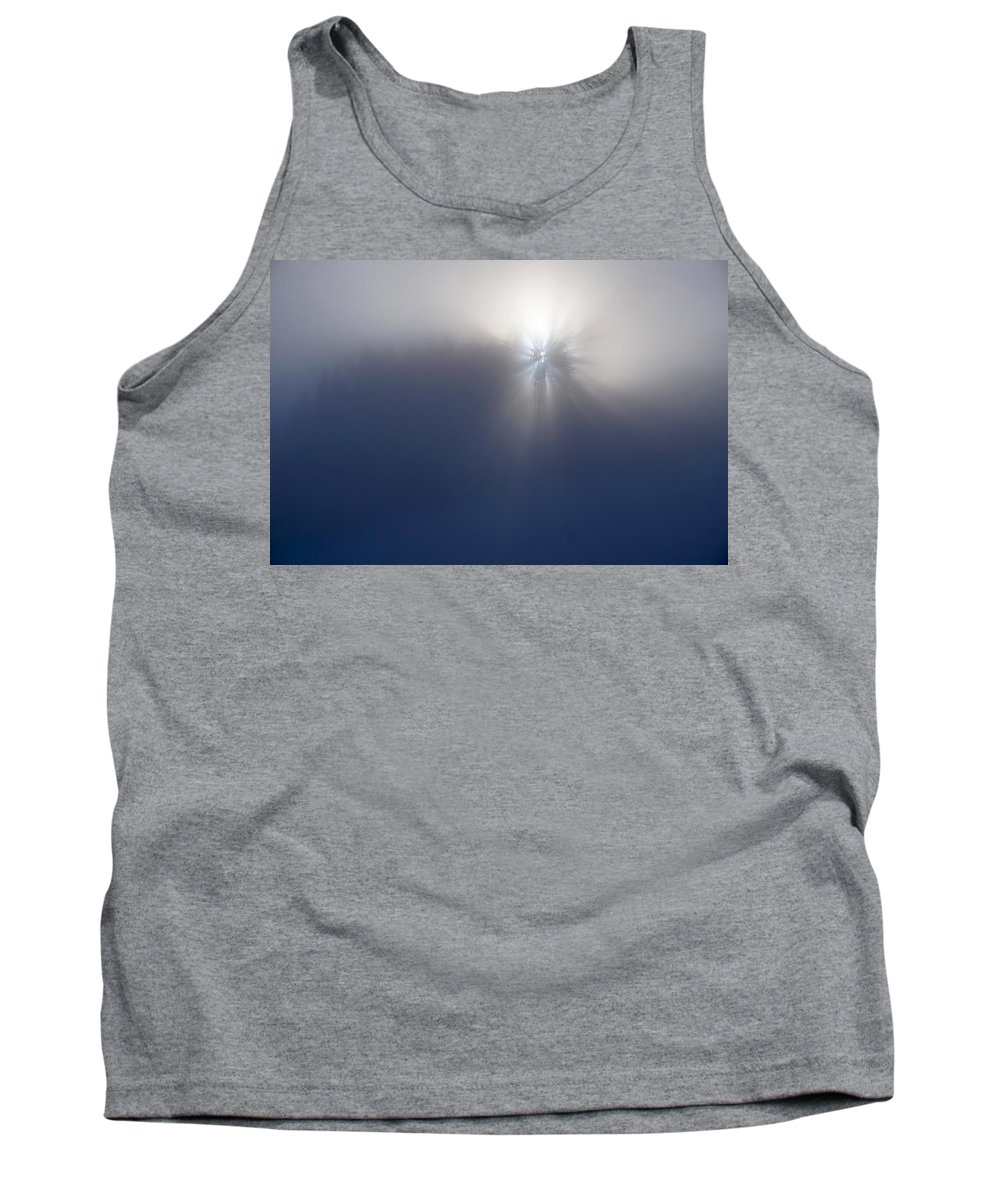Landscape Tank Top featuring the photograph Foggy Shadow And Light by Kim Grosz
