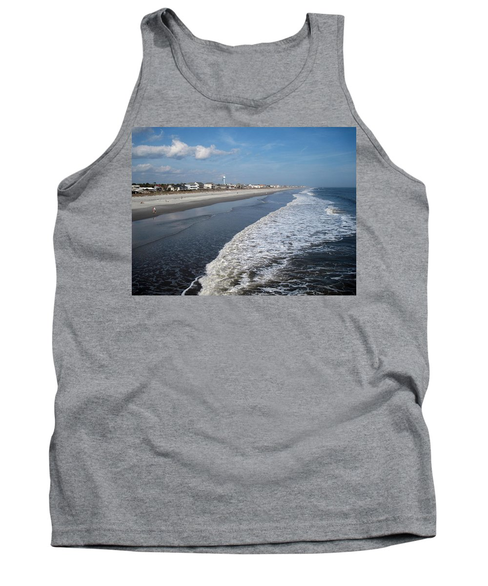 Photography Tank Top featuring the photograph Folly Beach Charleston Sc by Susanne Van Hulst