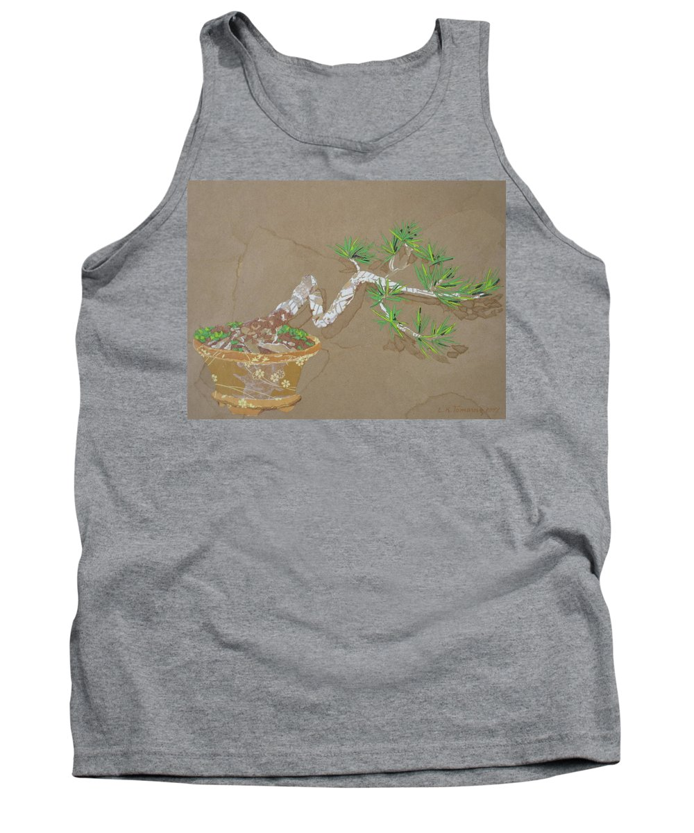 Banzai Tree Tank Top featuring the painting For Inge by Leah Tomaino