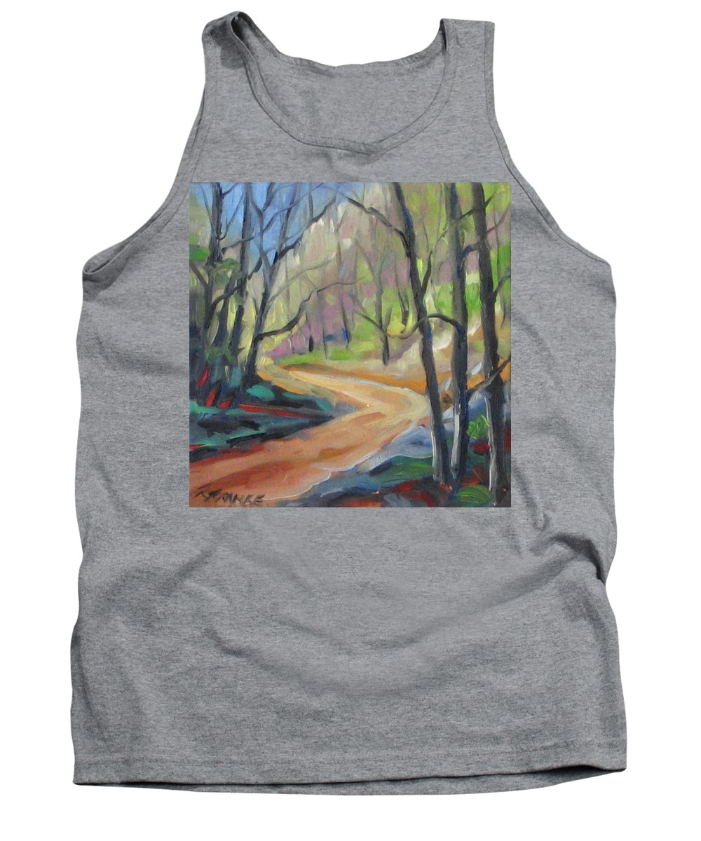 Art Tank Top featuring the painting Forest Way by Richard T Pranke
