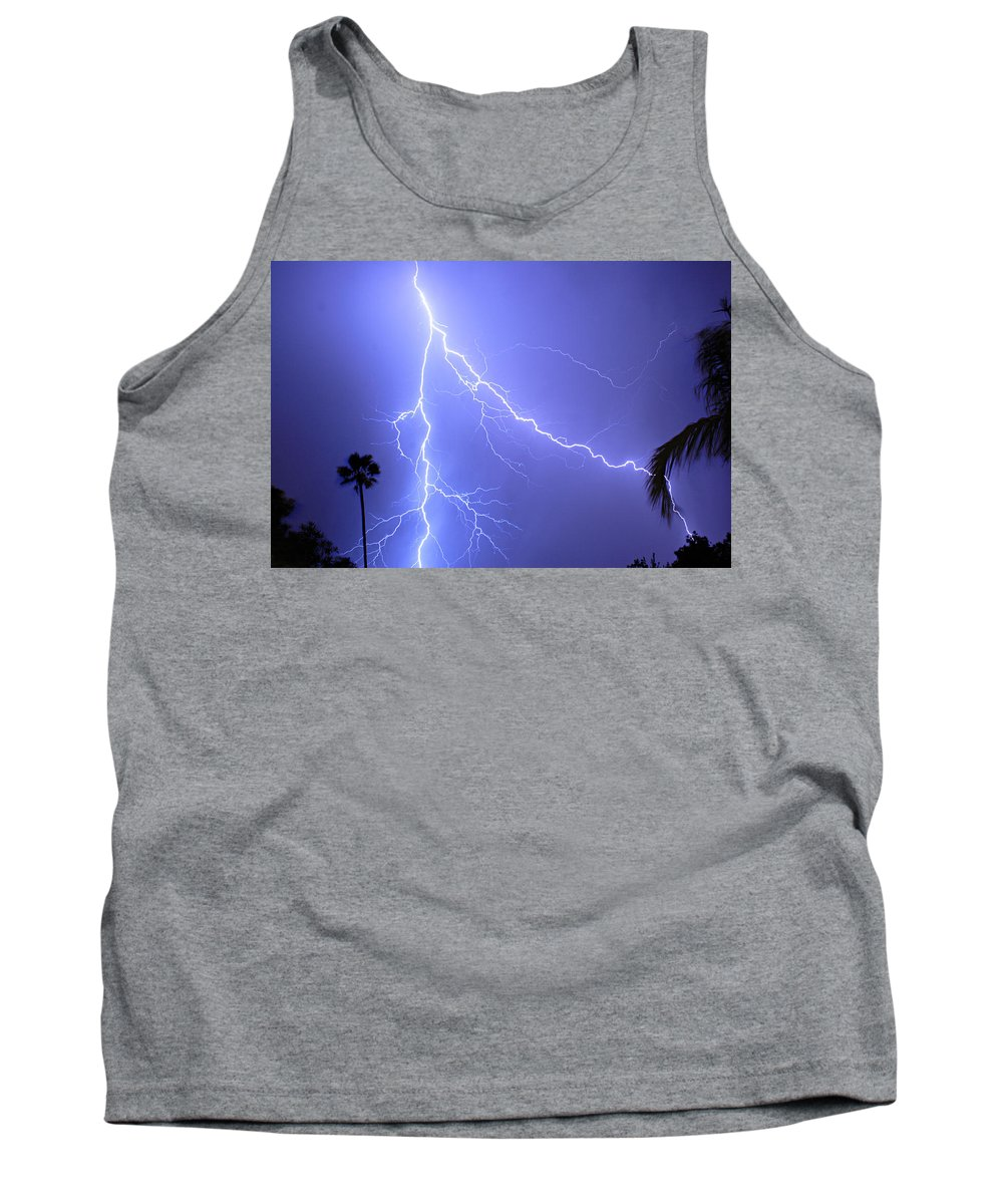 Lightning Tank Top featuring the photograph Fork In The Sky by James BO Insogna