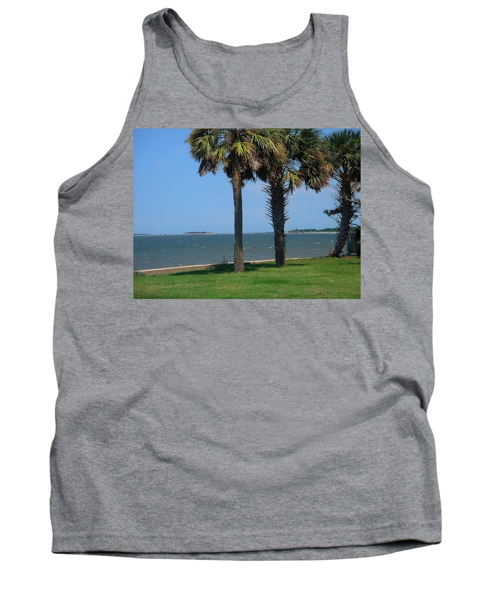 Photography Tank Top featuring the photograph Fort Sumter Charleston Sc by Susanne Van Hulst