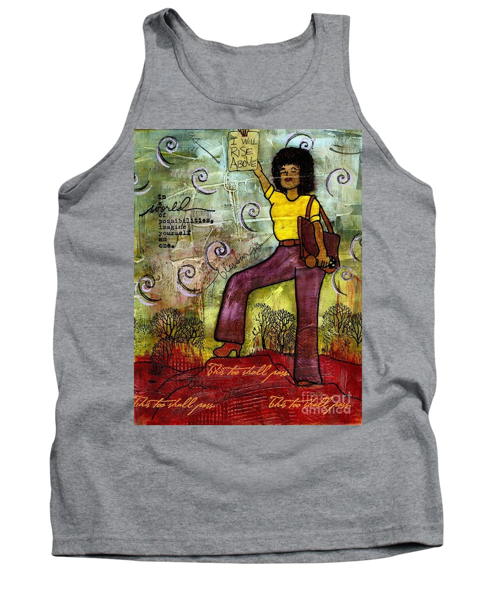 Acrylic Tank Top featuring the painting Fortitude by Angela L Walker