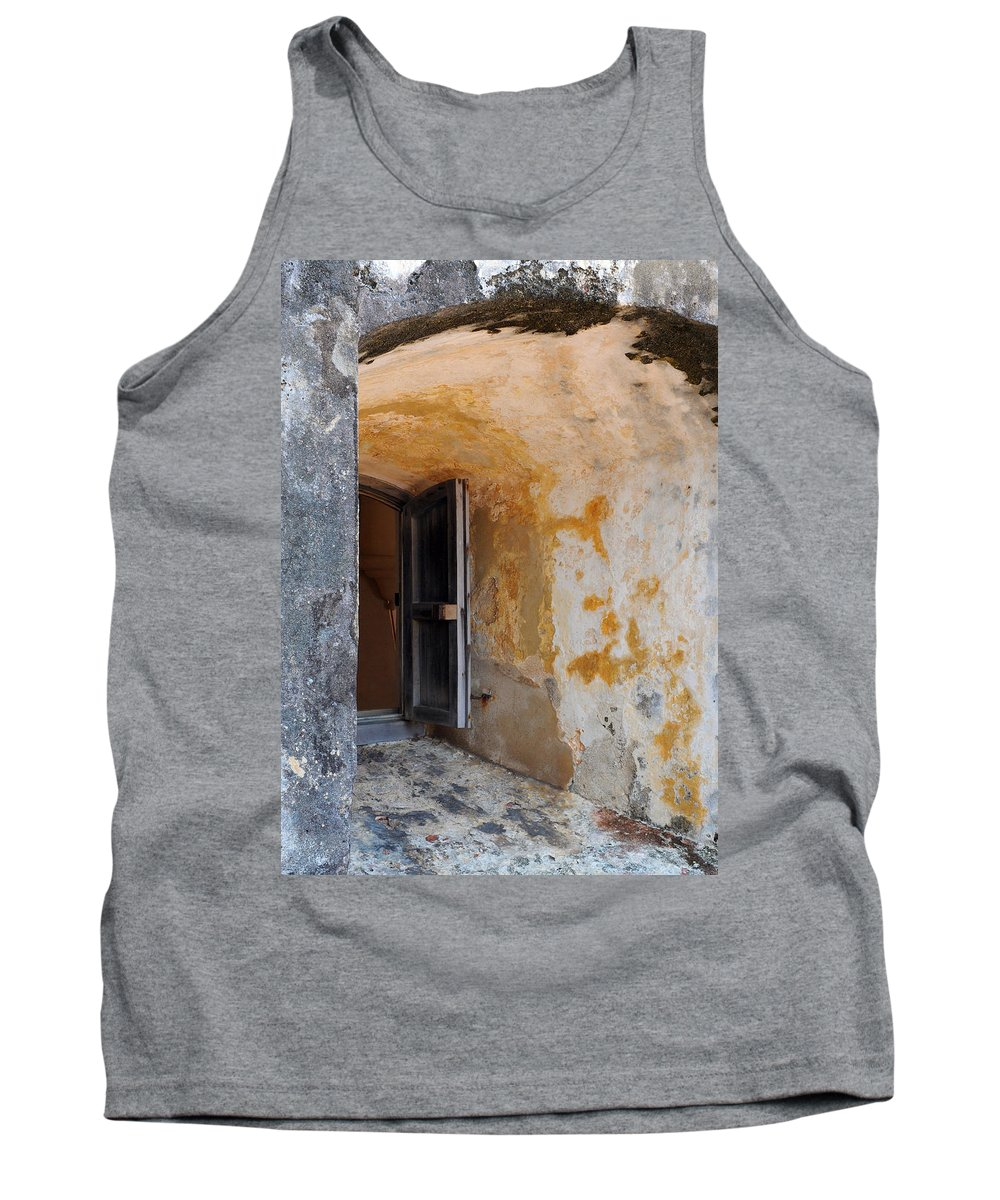 Fortress Tank Top featuring the photograph Fortress Window by Stephen Anderson