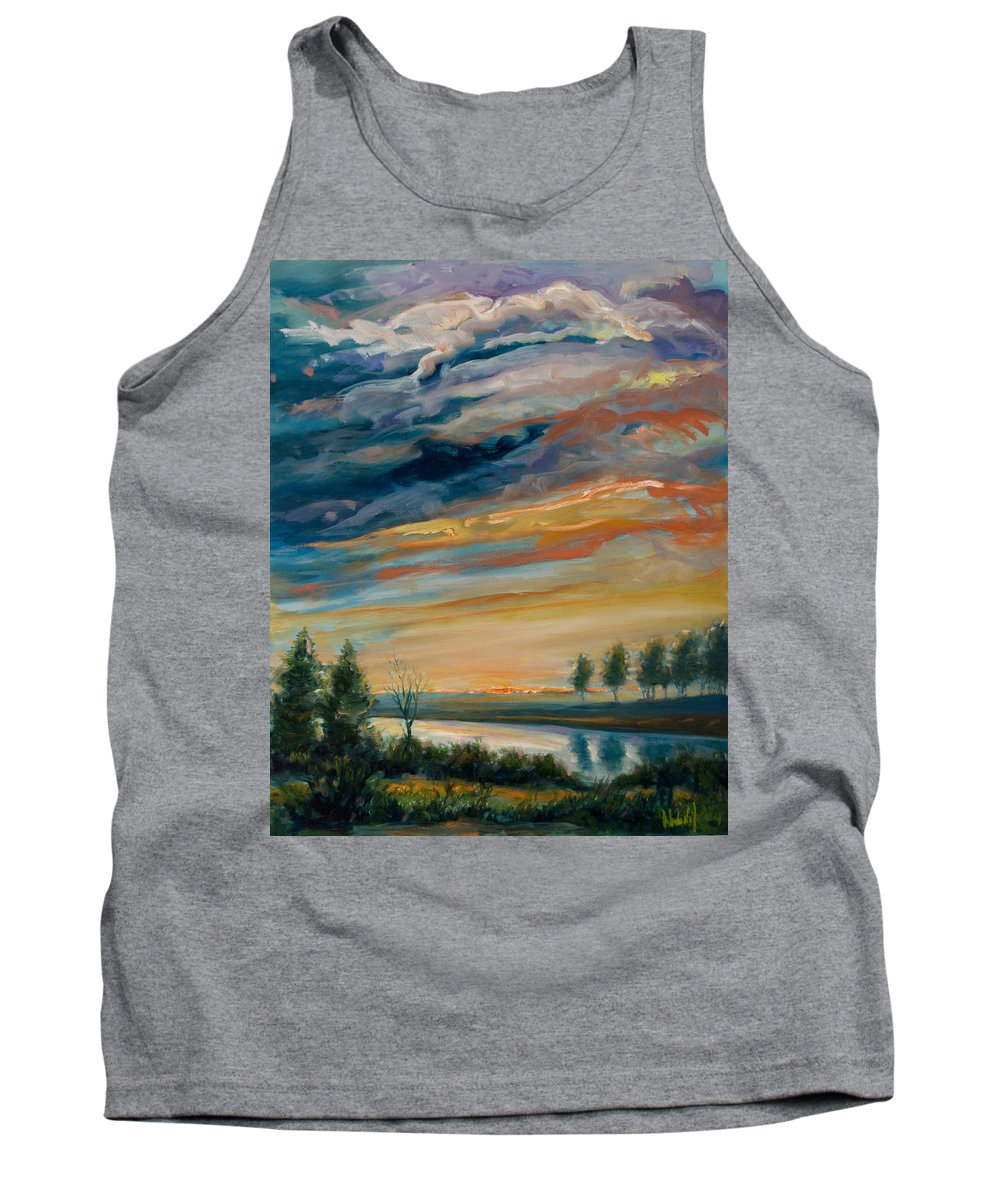 Water Tank Top featuring the painting France IIi by Rick Nederlof