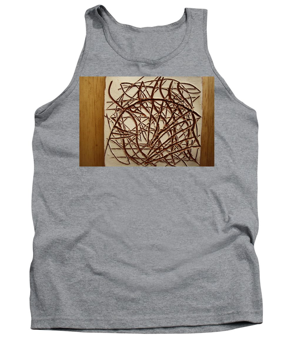 Jesus Tank Top featuring the ceramic art Frances - Tile by Gloria Ssali