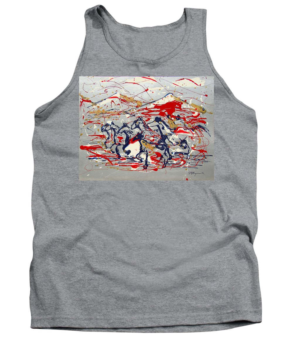 Freedom On The Open Range Tank Top featuring the painting Freedom On The Open Range by J R Seymour