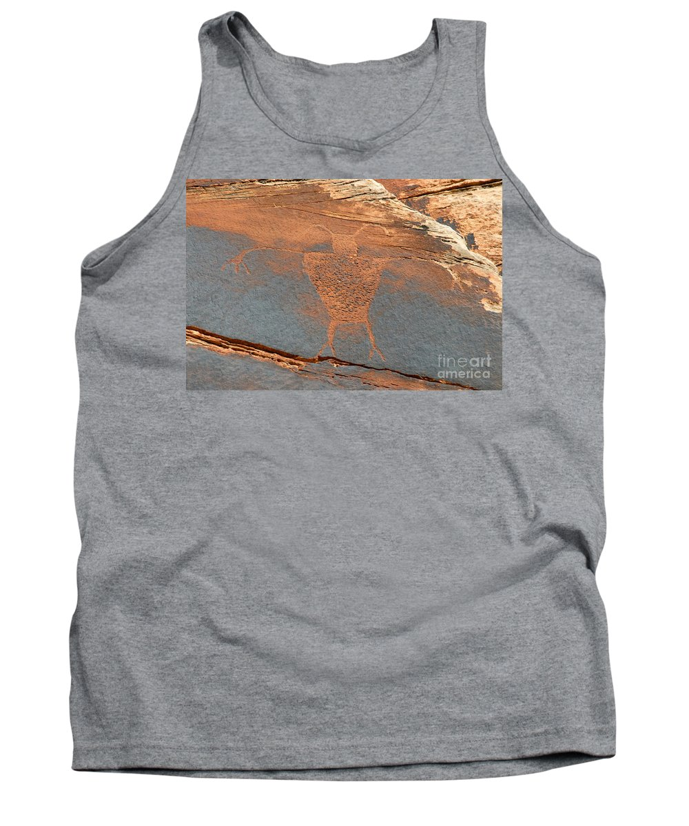 Petroglyph Tank Top featuring the photograph Fremont Man by David Lee Thompson