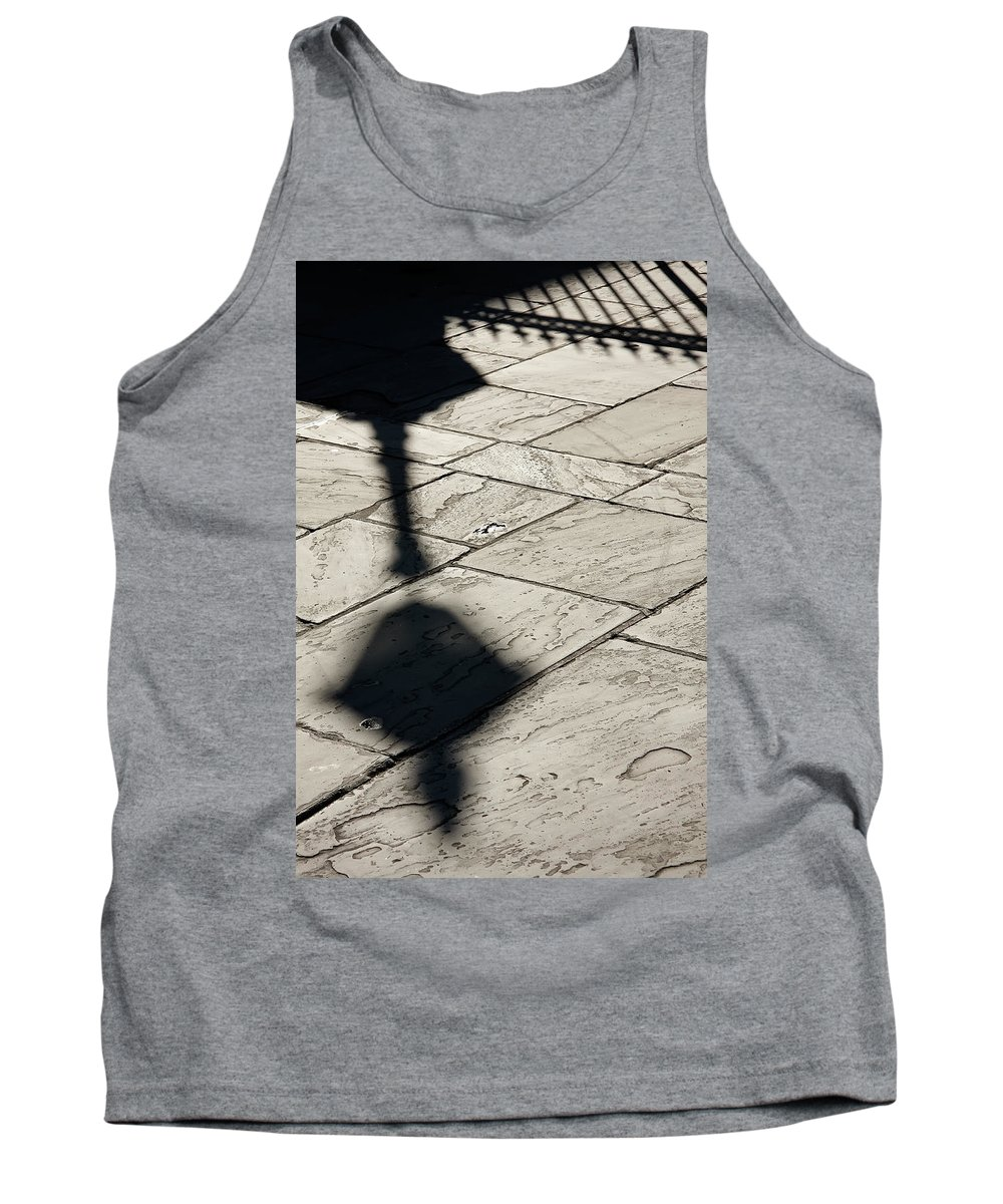 New Orleans Tank Top featuring the photograph French Quarter Shadow by KG Thienemann