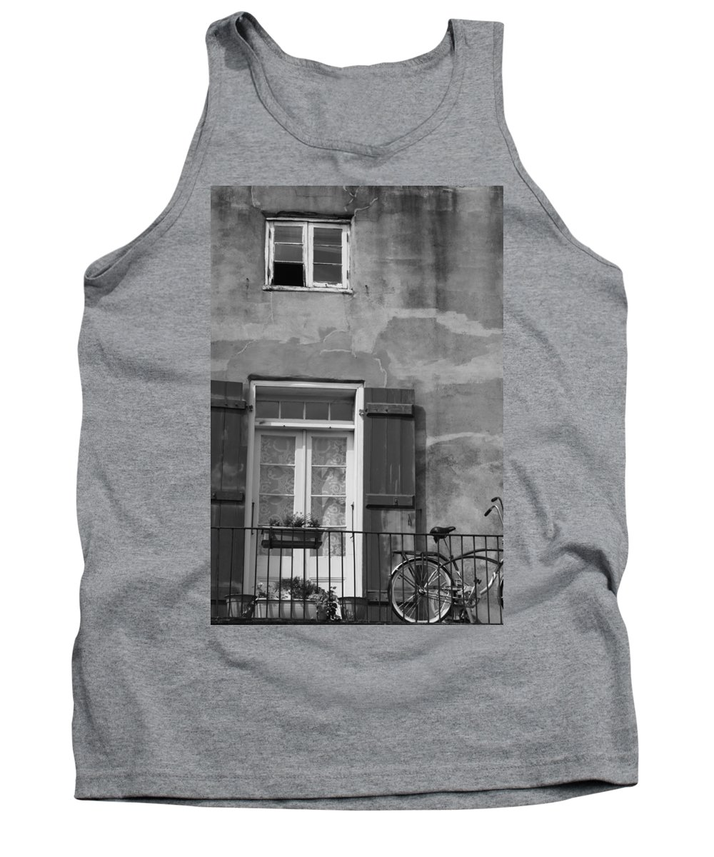 French Quarter Tank Top featuring the photograph French Quarter Window by Lauri Novak