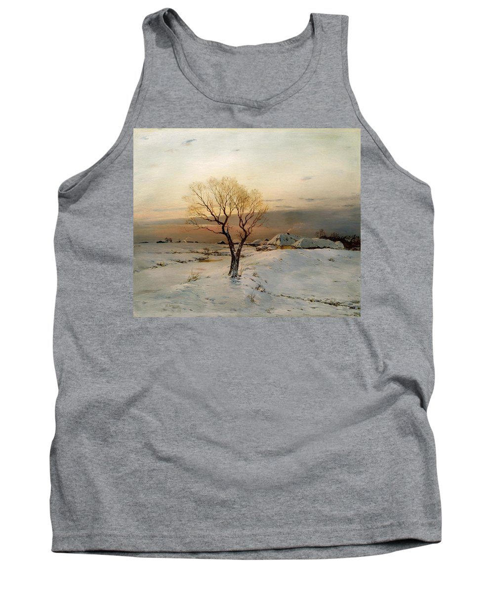 Painting Tank Top featuring the painting Frosty Morning by Mountain Dreams