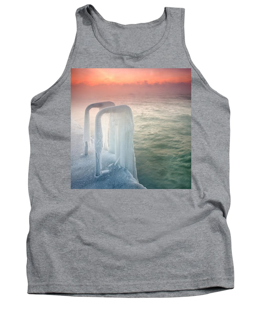 Dawn Tank Top featuring the photograph Frozen by Evgeni Dinev