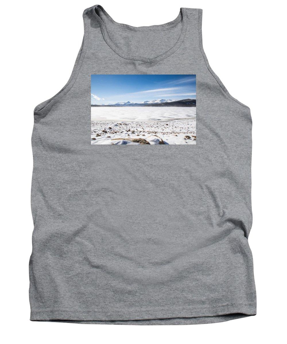 Colorado Tank Top featuring the photograph Frozen Lake by Hector Maldonado
