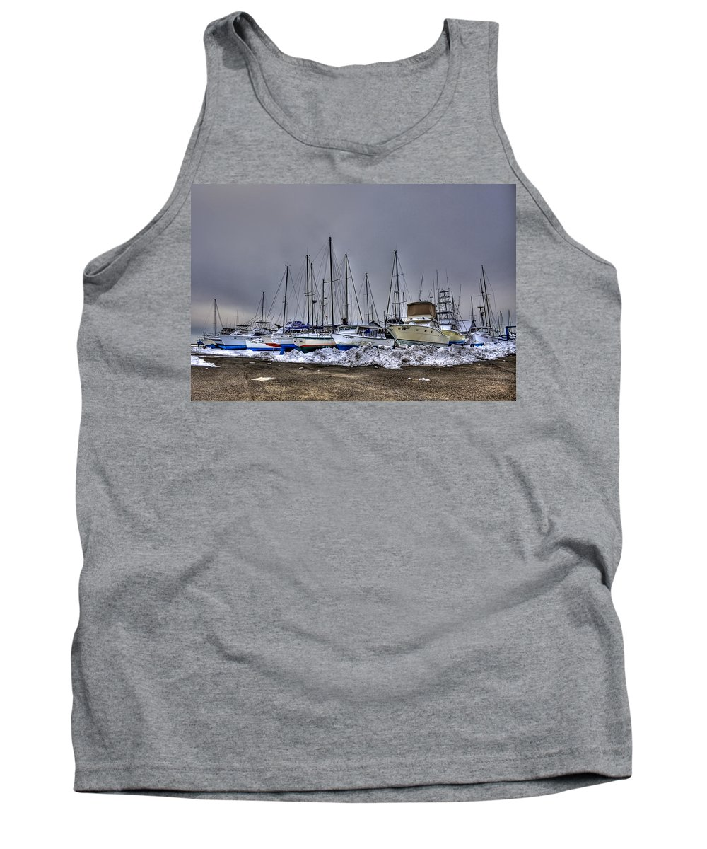 Boat Tank Top featuring the photograph Frozen Waves by Evelina Kremsdorf