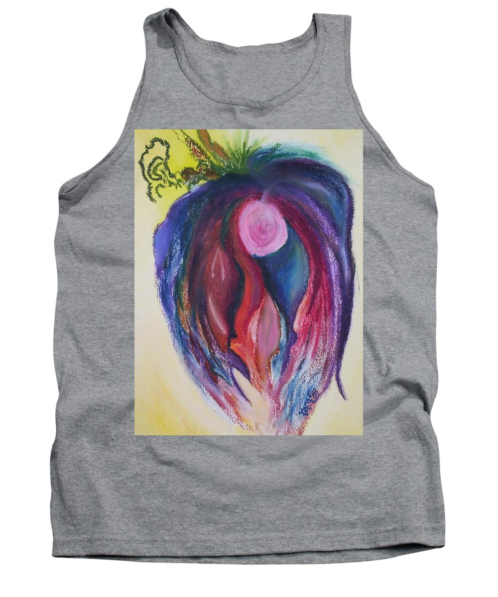 Abstract Tank Top featuring the painting Fruit by Suzanne Udell Levinger