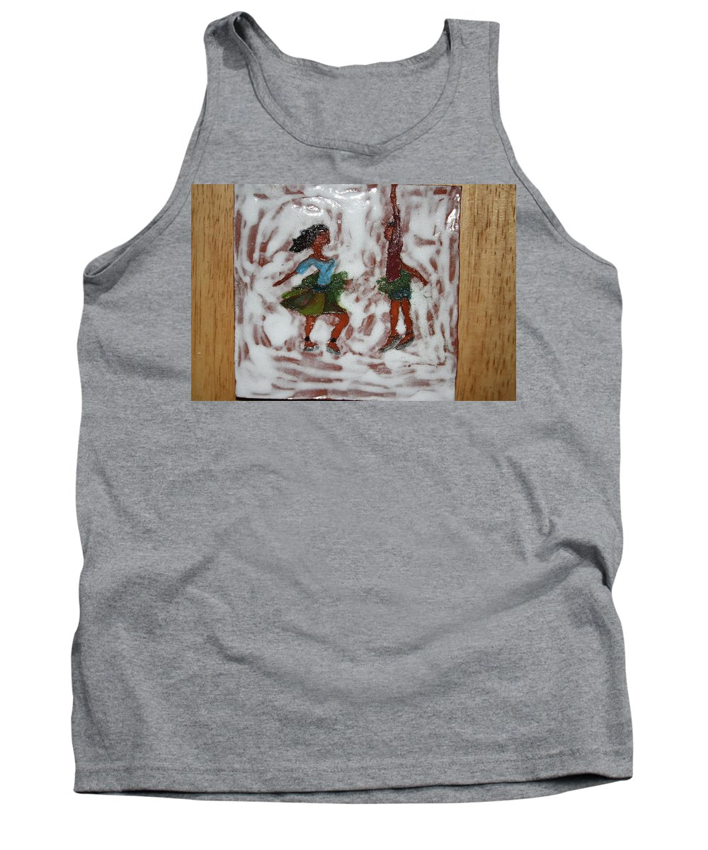 Jesus Tank Top featuring the ceramic art Fun Times - Tile by Gloria Ssali