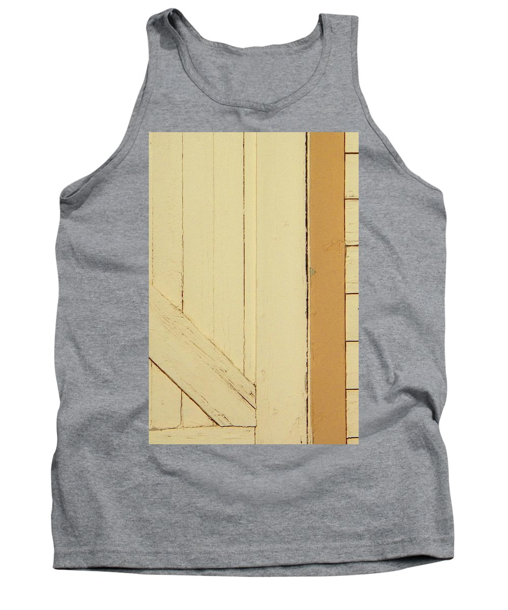 Abstract Tank Top featuring the photograph Garage Door by Lenore Senior