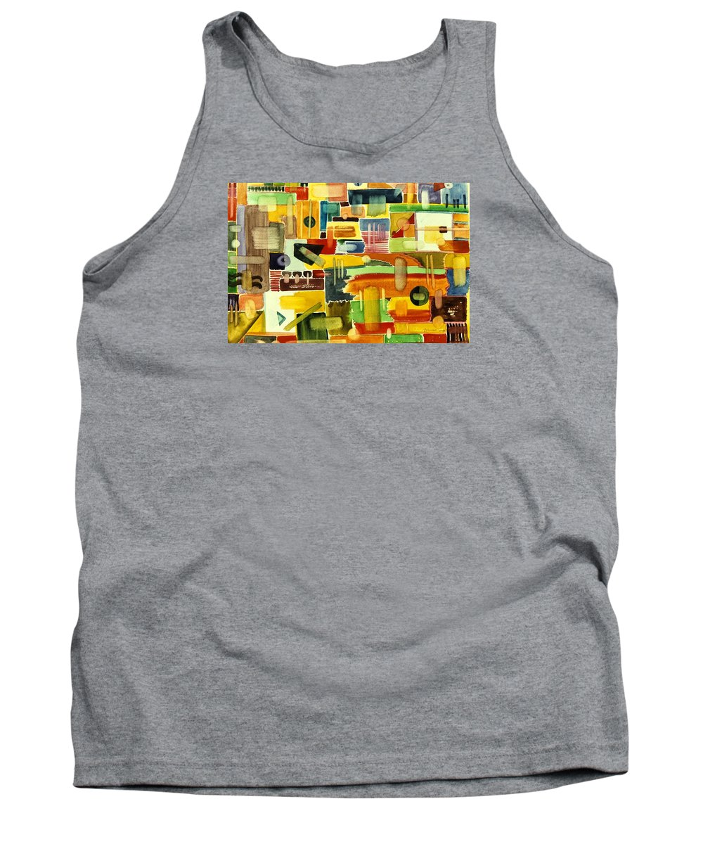 Garden Tank Top featuring the painting Garden Stroll by Ishwar Malleret