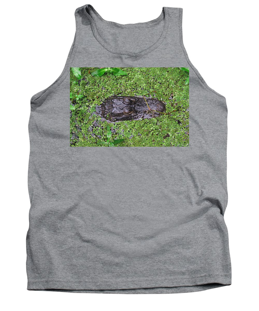 Gator Tank Top featuring the photograph Gator Rising by Peg Urban