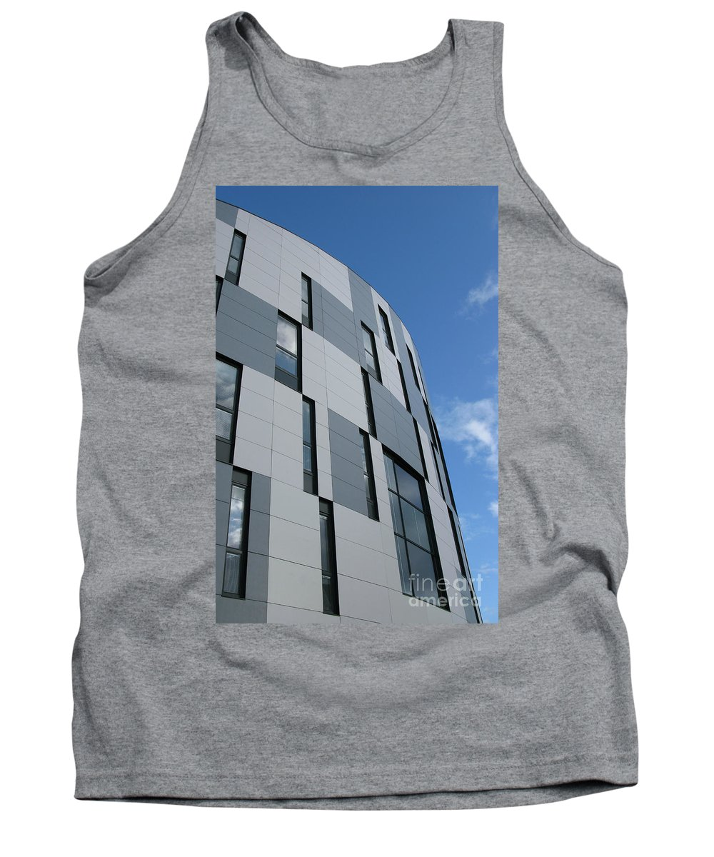 Architecture Tank Top featuring the photograph Geometric Intrigue by Ann Horn