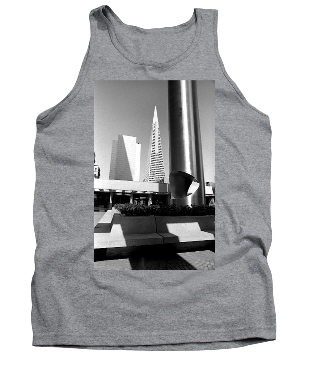Cityscapes Tank Top featuring the photograph Geometry In Action by Norman Andrus
